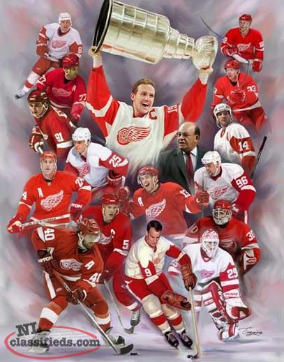 "Framed NHL Detroit Red Wings 16"" X 20"" Canvas Print"