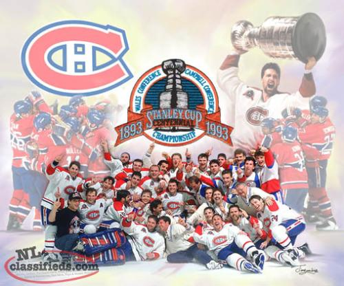 "16"" X 20"" CANVAS PRINT MONTREAL CANADIENS 1993"