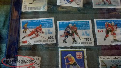50 Hockey Stamps From All Over The World