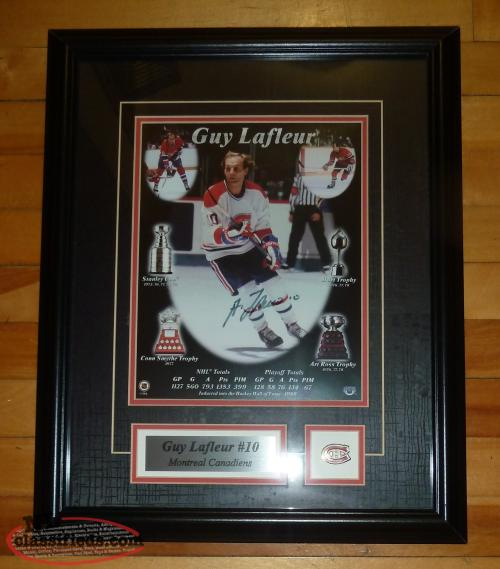 Guy Lafleur Autographed Framed Photo