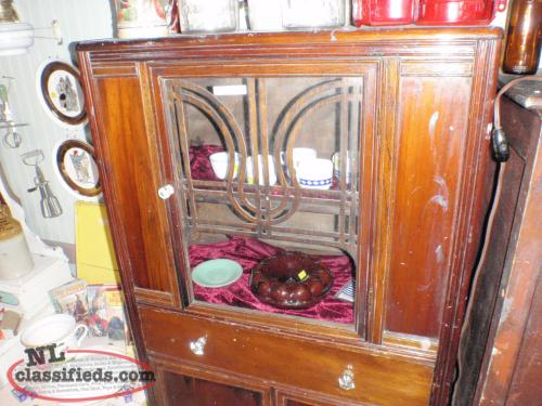 old cabinet with glass knobs