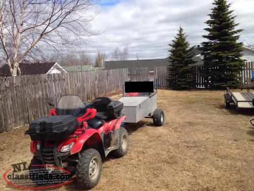 ATV Passenger Caboose with storage & skis for winter use