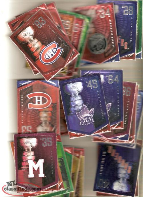 Molsons unopened packs of stanley cup cards to trade