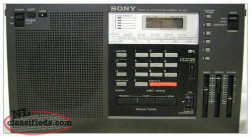 Sony ICF-2001 Short Wave Radio / Mint Condition