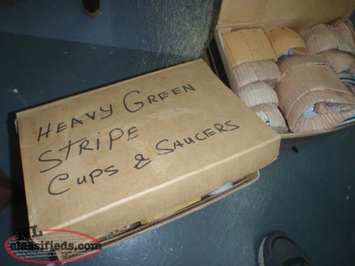 2 boxes of new old stock cups and saucers