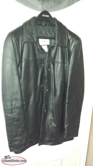 Ladies Winter Leather Coat, Size 14