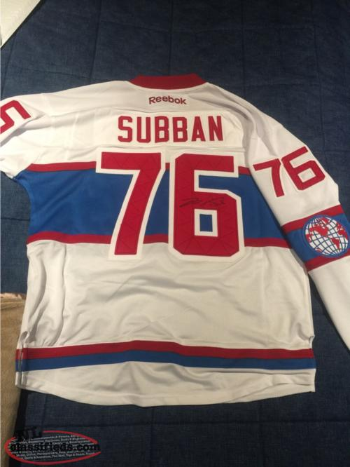 brand new 1035a 76a3a PK Subban Autographed Winter Classic Jersey - St.john's, Newfoundland  Labrador | NL Classifieds