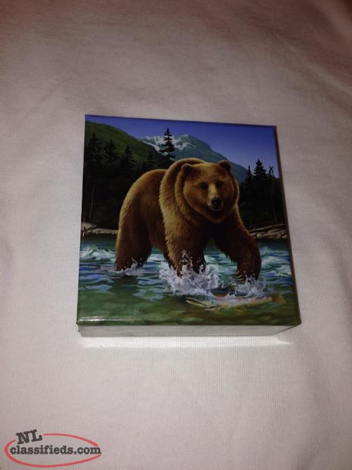 2014 Coin Canada $100 Grizzly Bear Wild Life in Motion 1oz Silver .9999