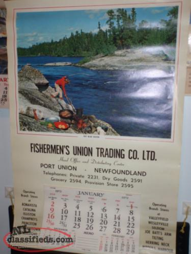 vintage fishermans union calendar