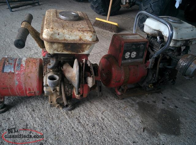 two Honda 1500 generators