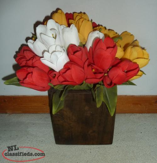 Multi Coloured Roses in Solid Wood Box