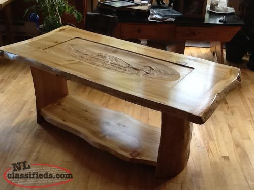 Unique custom carved and custom made tables