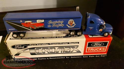 Diecast Fram Safety Tractor Trailers