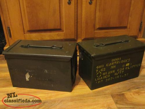MILITARY AMMUNITION CANS.