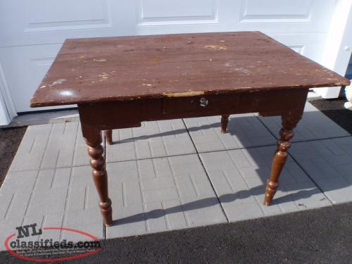 antique newfoundland made table