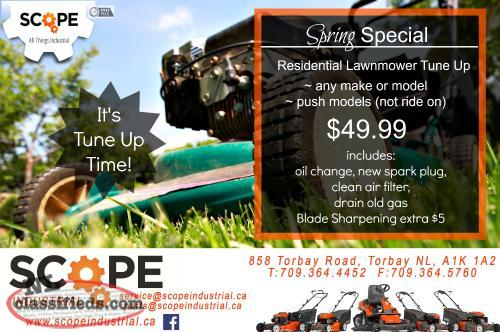 Spring Lawnmower Tune Up