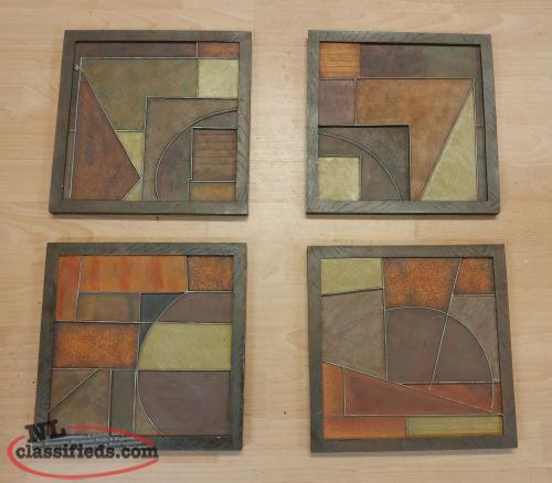 Modern 4-Piece Wall Hanging