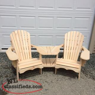 DOUBLE CHAIR WITH CENTER TABLE $250.00