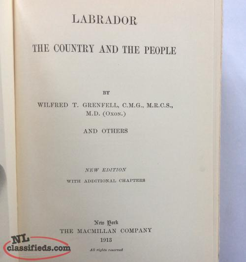 Labrador, by Grenfell, Townsend, Cabot, and others