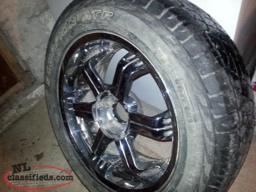 100.00 firm , 20 inch chrome rims for sale