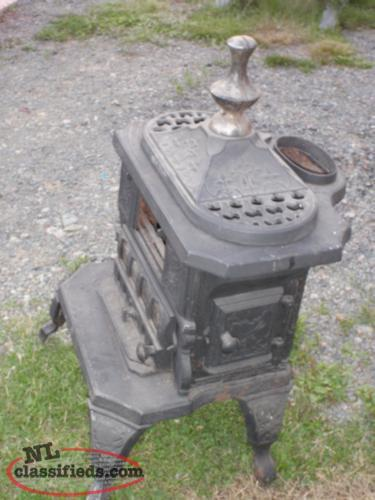 antique small parlor stove