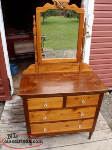 antique dresser with glass knobs