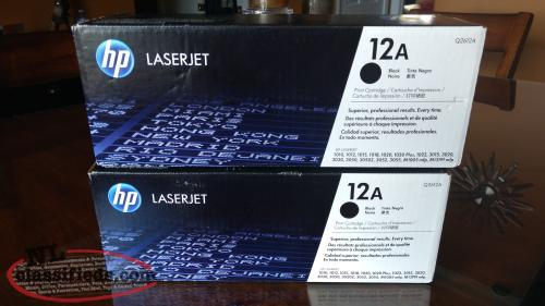 LOWERED PRICE!! TWO HP (Q2612A) 12A OEM NEW SEALED TONERS..GREAT DEAL..