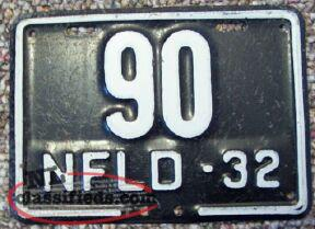 Wanted to buy NFLD motorcycle plates