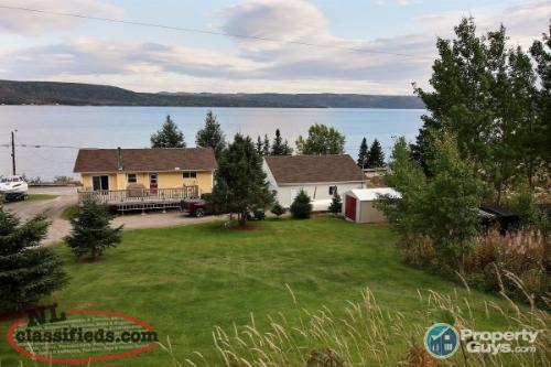 Waterfront, updated split entry with 2 beds/1.5 bath.