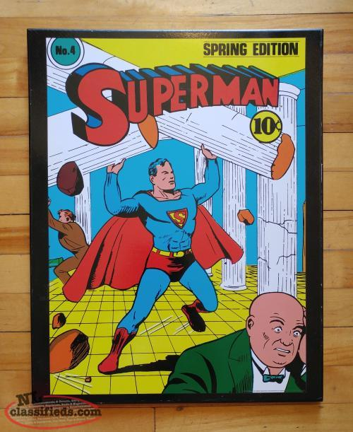 Superman Wood Wall Picture