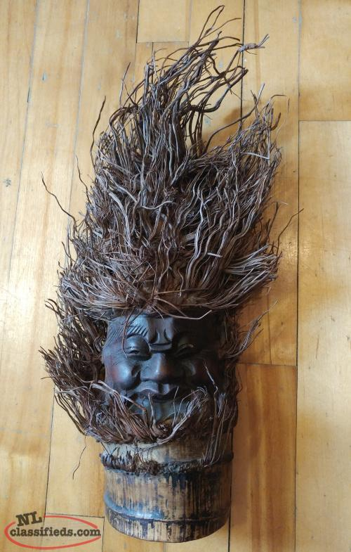 Hanging Wood Wall Mask