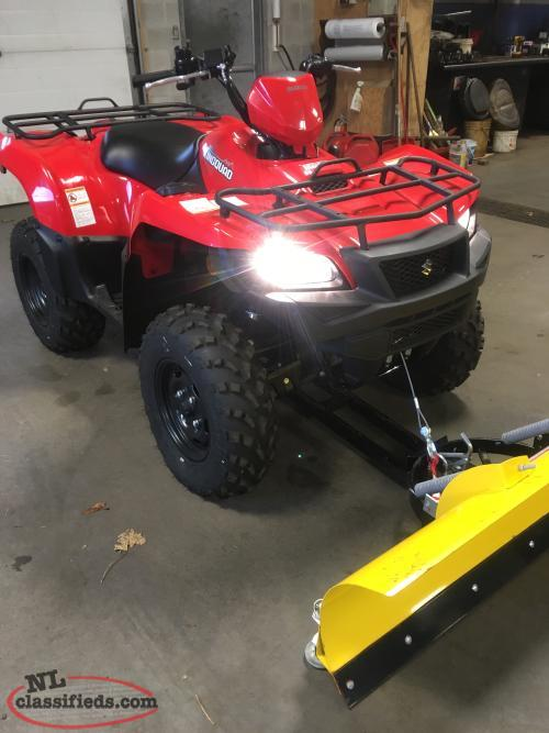 2018 SUZUKI KINGQUAD 500 4X4 ($73 BI-WEEKLY) INCLUDES PLOW KIT