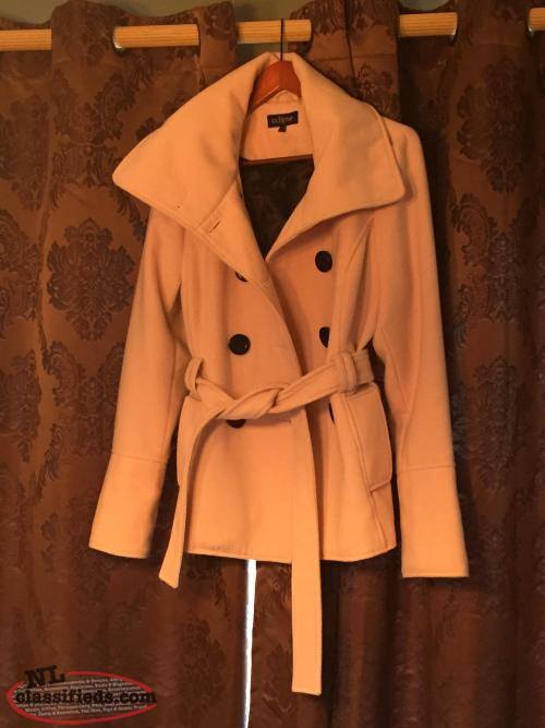 Ladies melton double breasted coat for sale