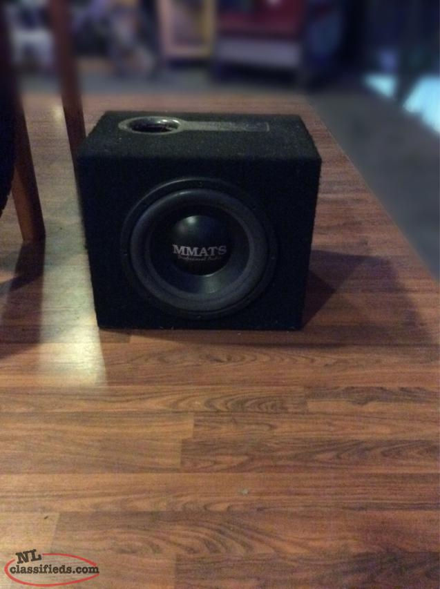 Mmats Car Audio Subwoofer And Amp