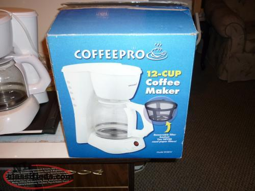 COFFEEPRO 12CUP COFFEE MAKER WITH REMOVABLE FILTER BASKET