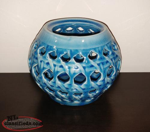 Blue Decorative Glass Decor