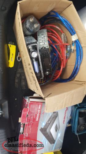 Amp, decks,capacitor and a few wiring kits