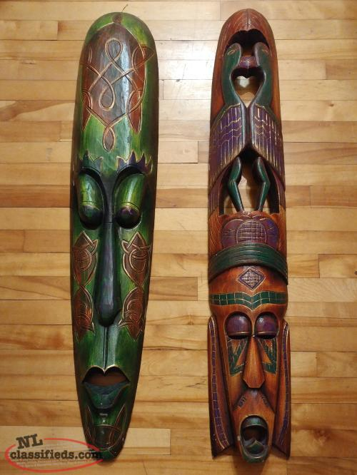 Large Wooden Masks