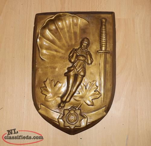 VRI Army Parachute Plaque