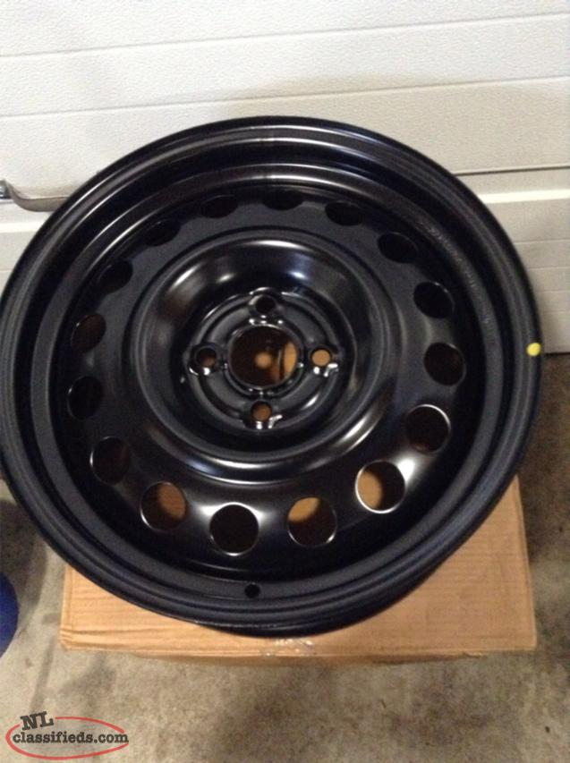 "16"" Steel Rims with 4 lug x 100mm Bolt Pattern (Brand New)"