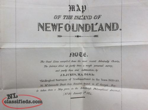 Jukes, Geology of Newfoundland, 1843. David Slade