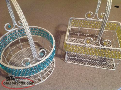 Metal Beaded Baskets