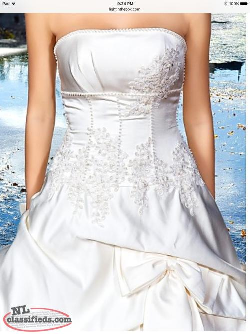 Ball gown wedding dress.