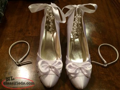 White Satin Shoes