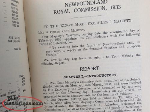 NL 1933 Royal Commission Report