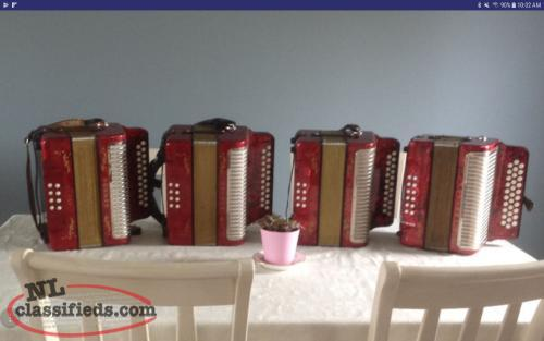 Priced Reduced!!! Hohner Erica Accordion.