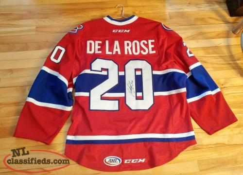 Jacob De La Rose Game Used Autographed Icecap Jersey