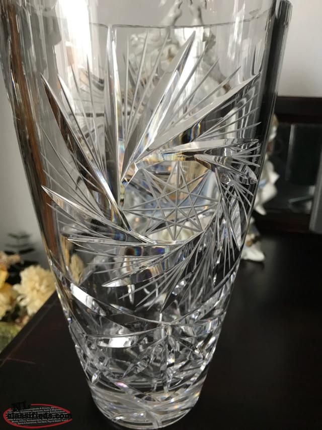 24 Lead Crystal Vase 10 Inches High