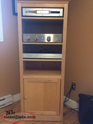 Solid Maple entertainment unit