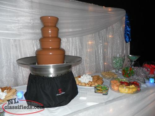 Chocolate and Champagne Fountains
